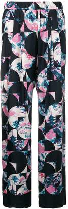 Odeeh blossom flowers print trousers