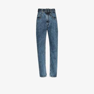 Maison Margiela Belted Tapered Leg Jeans