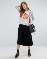 YMC Pleated Midi Skirt
