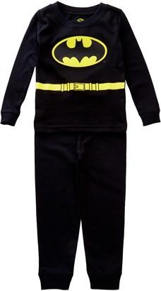 Intimo Batman Long Sleeve Tight Fit Costume PJ Set (Baby & Toddler Boys)