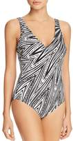 Gottex Mixed Animal-Print One Piece Swimsuit