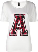 Alexandre Vauthier varsity style T-shirt - women - Silk/Viscose - 2