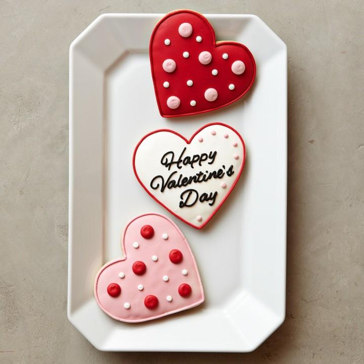 Williams-Sonoma Valentine Heart Cookies, Set of 3