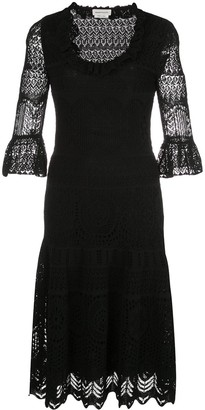 Alexander McQueen Lace Knitted Dress