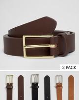 Asos Smart Belt 3 Pack SAVE