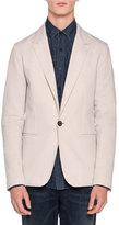 Lanvin Wool One-Button Blazer, Chalk