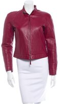 Emporio Armani Cropped Leather Jacket