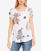 Vince Camuto TWO by Floral-Print Burnout T-Shirt