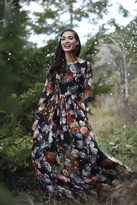 Shabby Apple Winter Bouquet Maxi Dress