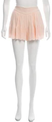 Rebecca Taylor Eyelet Mini Shorts