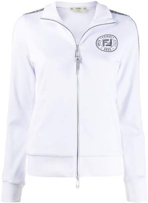 Fendi FF metallic zipped jacket