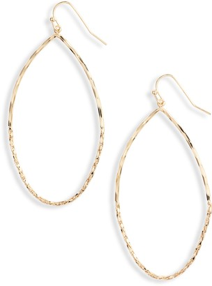 Halogen Shimmer Chain Teardrop Earrings