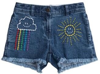 Stella McCartney Kids Denim Weather Print Shorts (3-14 Years)