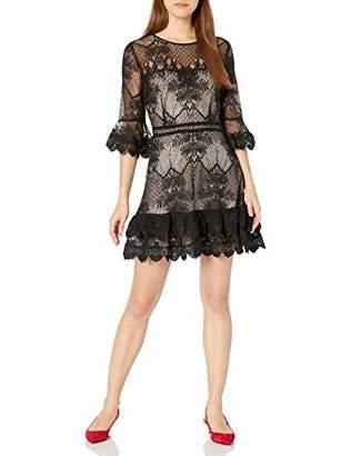 BB Dakota Junior's Layer Cake Scalloped lace Ruffle Dress