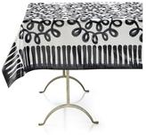 """Crate & Barrel Pic-nic Squiggle Outdoor 58""""x120"""" Tablecloth"""