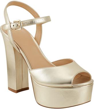 Marc Fisher Stacey Metallic Platform Sandals