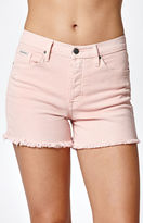 Calvin Klein Destructed Pink Denim Shorts