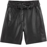 Vanessa Seward X La Redoute Collections Leather Shorts with Tie-Waist