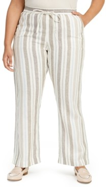 Charter Club Plus Size Linen Pants, Created for Macy's