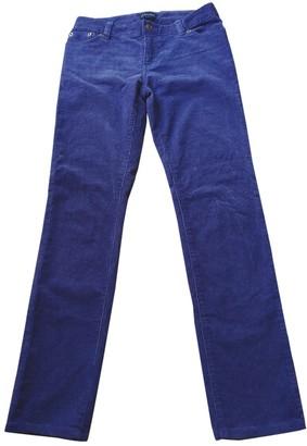 Ralph Lauren Purple Velvet Trousers for Women