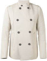 Wooyoungmi double breasted coat - men - Cotton/Polyester/Viscose/Wool - 48