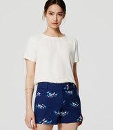 "LOFT Flamingo Riviera Shorts with 4"" Inseam"