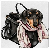 Oliver Gal Most Favorite Companion Canvas Wall Art