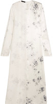 Calvin Klein Collection Larrew Floral-print Silk Crepe De Chine Dress - Ivory