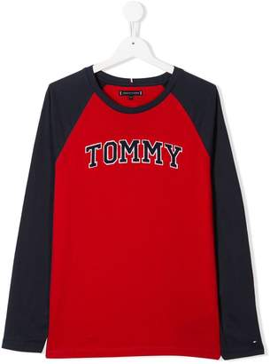 Tommy Hilfiger Junior TEEN embroidered logo top