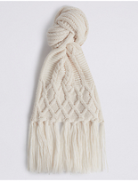 M&S Collection Cable Knit Scarf