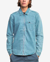 RVCA Men's Hex Zip-Front Denim Shirt
