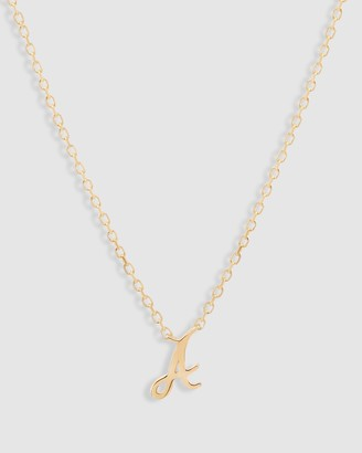 By Charlotte 14K Gold Love Letter Necklace - A