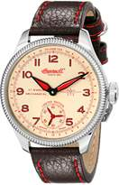 "Ingersoll Men's IN3105SCR ""Chinook"" Stainless Steel Mechanical Watch with Black Leather Band"