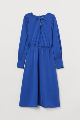 H&M Knee-length Satin Dress - Blue