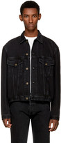 Balenciaga Black Denim Boxy Western Jacket