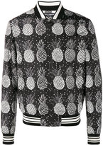 Dolce & Gabbana pineapple print bomber jacket - men - Polyester - 48