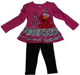 American Character Little Girls Elmo Heart Print 2 Pc Pant Set