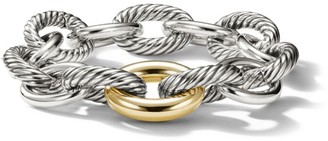 David Yurman Extra-Large Oval Link Bracelet with 18K Yellow Gold