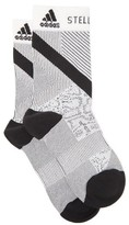 adidas by Stella McCartney Striped Logo-jacquard Socks - Womens - Black White