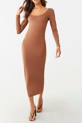 Forever 21 Long Sleeve Maxi Dress
