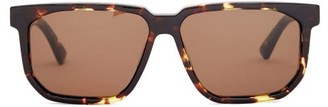 Bottega Veneta Square Tortoiseshell-acetate Sunglasses - Brown