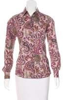 Etro Paisley Print Button-Up Top