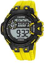 Calypso Men's Digital Watch with LCD Dial Digital Display and Yellow Plastic Strap K5696/1