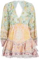 HEMANT AND NANDITA Tiana Floral Cotton Mini Dress