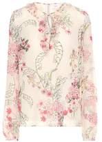 Giambattista Valli Floral-printed silk blouse