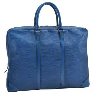 Louis Vuitton Blue Leather Handbags