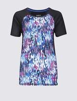 Marks and Spencer Spliced Ombre T-Shirt