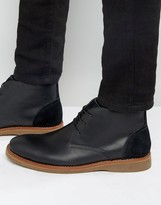 Aldo Kedaon Desert Boot In Black Leather
