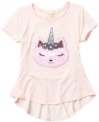 Btween Critter High/Low Peplum Hem Top (Toddler Girls)
