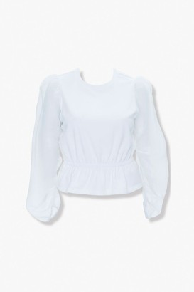 Forever 21 Plus Size Peasant-Sleeve Top